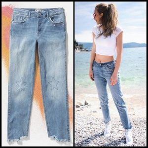 H&M Coachella High Rise Button Fly Star Jeans